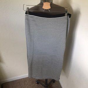 Gap Striped Maxi Skirt